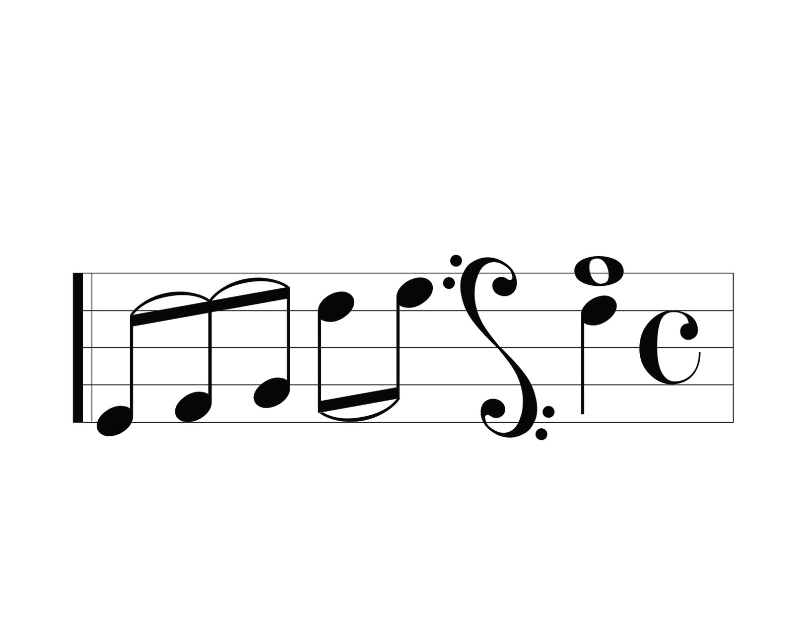 Music Notes Letters Music. the letters were made