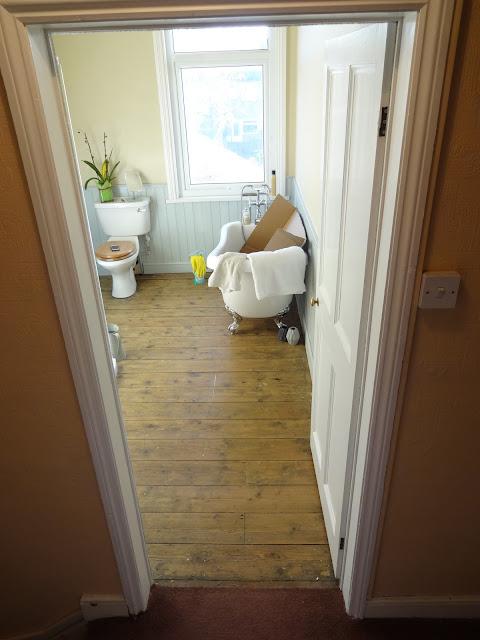 View from Outside Bathroom Door