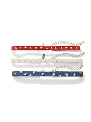 Red White and Blue Indepdence Day Choker