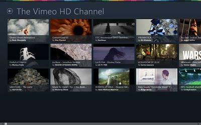 The entertaining Vimeo app in Windows 8