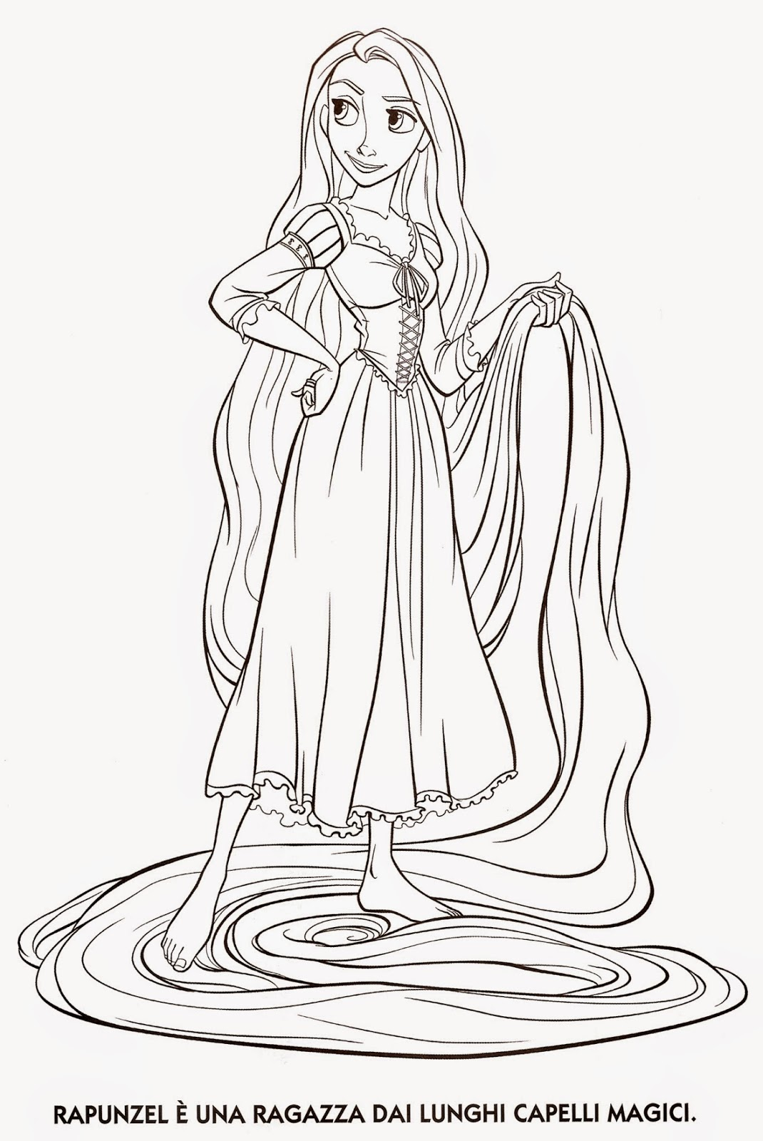 """Coloring Pages """"Tangled"""" Free Printable Coloring Pages of"""