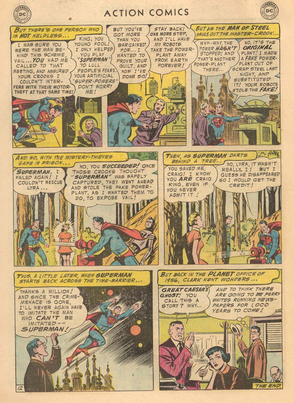 Read online Action Comics (1938) comic -  Issue #215 - 14