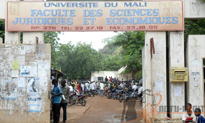 L'entré de la Faculté de Droit Public (ex Ena Centrale)