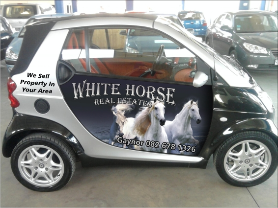 Commissioned Design For Estate Agent Company This Is A Partial Wrap Of New Smart Car