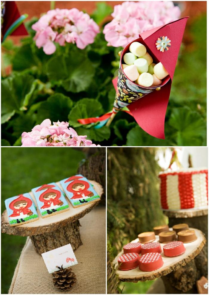 A Cute Little Red Riding Hood Birthday Party - via BirdsParty.com