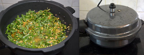 Broad Beans Kootu in pressure cooker