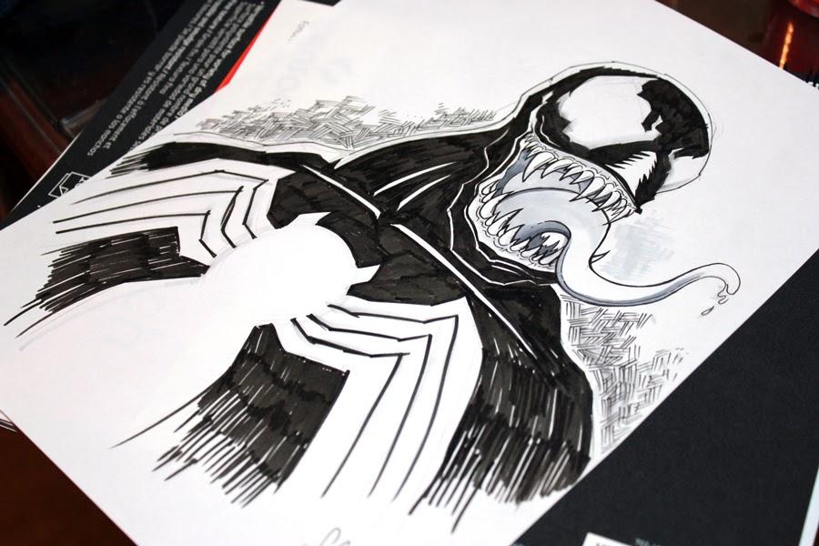 Drawing SpiderMan Symbiote Suit  Black Suited Spiderman  Marvel  Timelapse  Artology