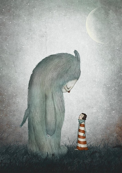 por Maja Lindberg | ilustraciones imaginativas, infantiles, cuentos, imagenes bonitas, monstruos, illustration art, cool stuff.