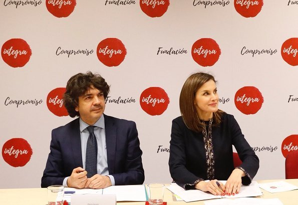 Queen Letizia of Spain visited the facilities of Integra Foundation in Madrid