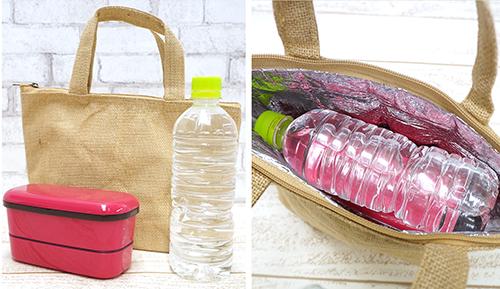 ジュートの保冷バッグは見た目も爽やかで夏にピッタリ!