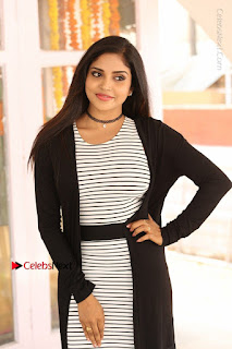 Telugu Actress Karunya Chowdary Stills in Black Dress at Soda Goli Soda Movie Opening  0001.JPG