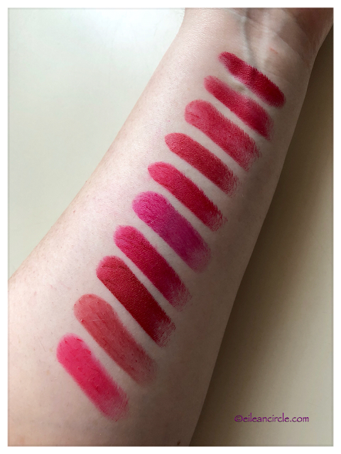 Red lipstick, lipstick collection, Mac cosmetics, swatches