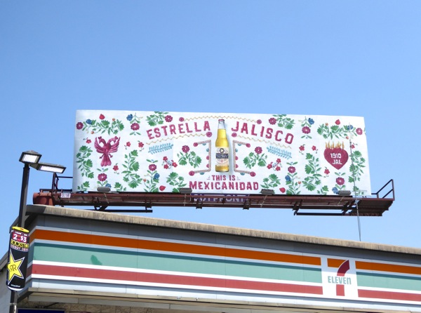 Estrella Jalisco This is Mexicanidad billboard