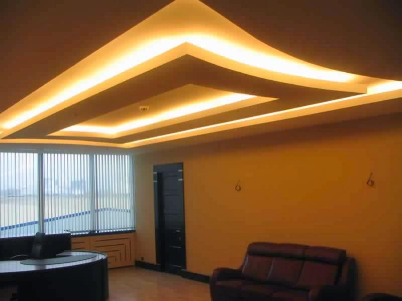Multilevel Suspended Ceiling Of Plasterboard Preparing