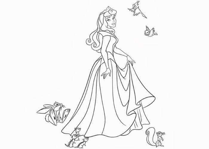 Princesa Aurora Para Colorear: Free Coloring Pages And Coloring
