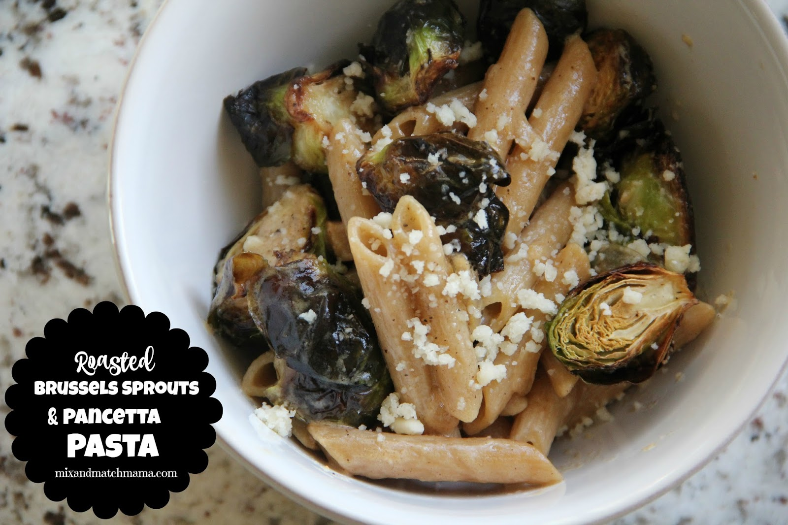 Roasted Brussels Sprouts and Pancetta Pasta | Mix and ...