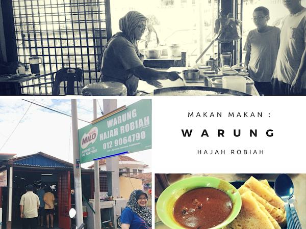 Doublekan Lemak : Bersarapan di Warung Hjh Robiah , Melaka