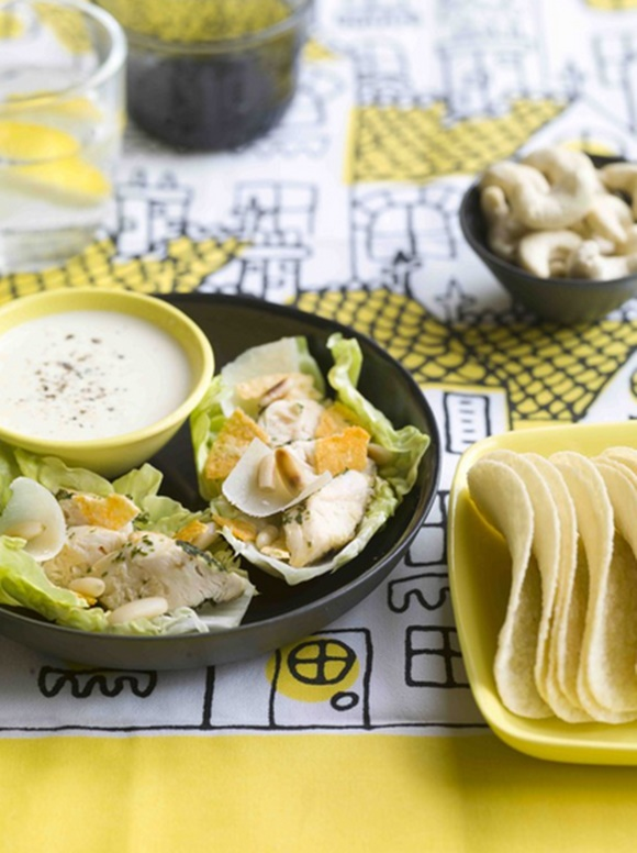 Bouchées De Salade Caesar Aux Éclats De Tuiles