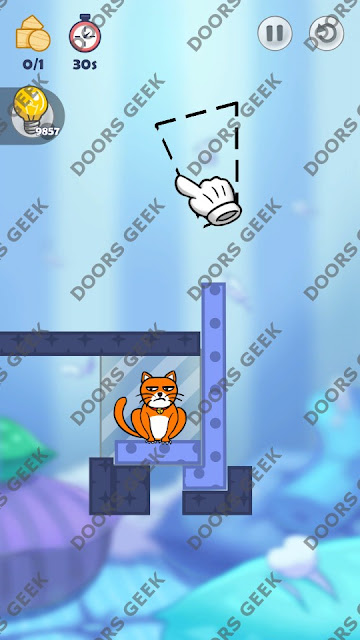Hello Cats Level 77 Solution, Cheats, Walkthrough 3 Stars for Android and iOS