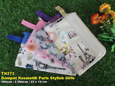 Dompet Kosmetik Paris Stylish Girls