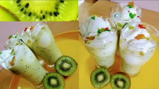 Kiwi Milkshake-Homemade kiwi milkshake-Healthy kiwi milk