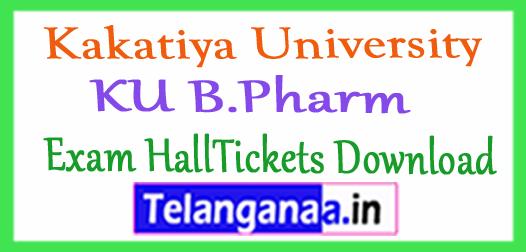 Kakatiya University KU B.Pharm Exam HallTickets