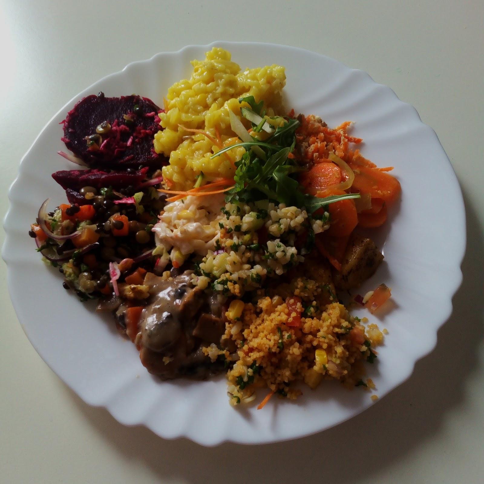 Vegetariánský oběd v restauraci Koza zůstala celá