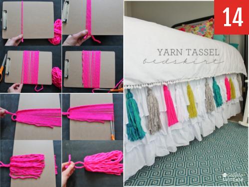 Add some simple yarn tassels