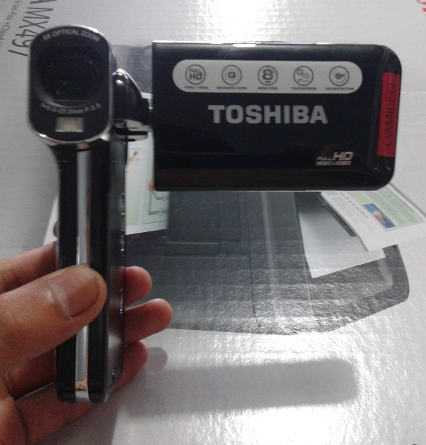 Desain Camcorder Toshiba Camileo P100