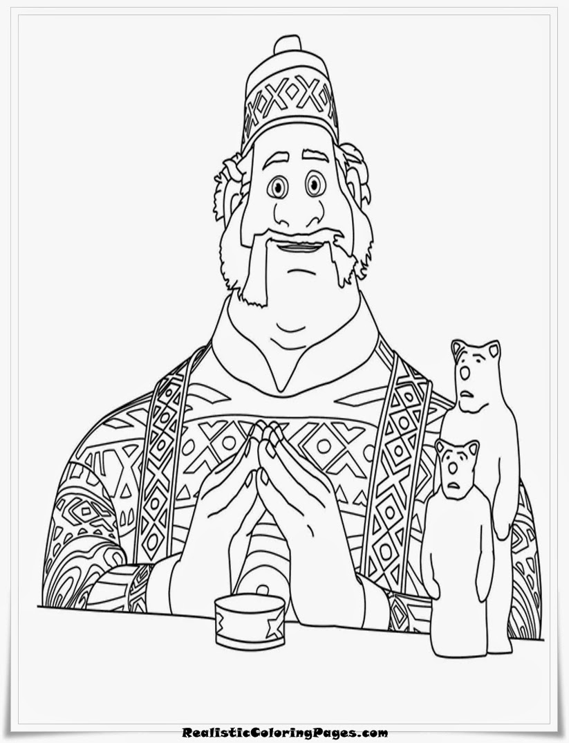 frozen coloring book pages oaken
