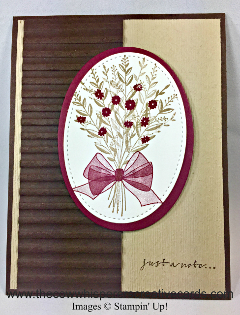 Card, Wishing You Well, Corrugated Embossing Folder, Stitched Framelits