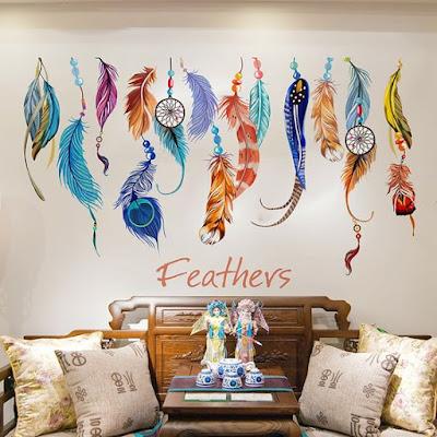 Feather Wall Sticker Dreamcatcher