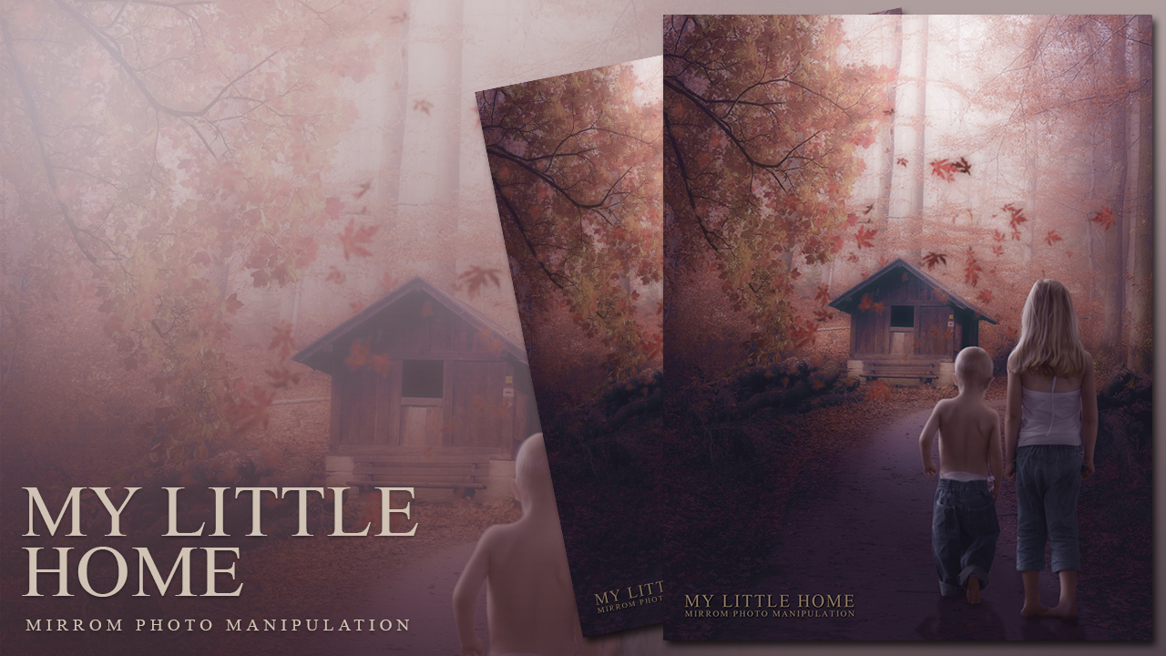 Create an My Little Home Photo Manipulation Effects In Photoshop