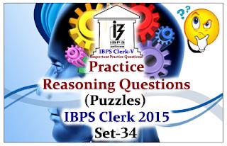 Race IBPS Clerk 2015- Practice Reasoning Questions (Puzzles) Set-34
