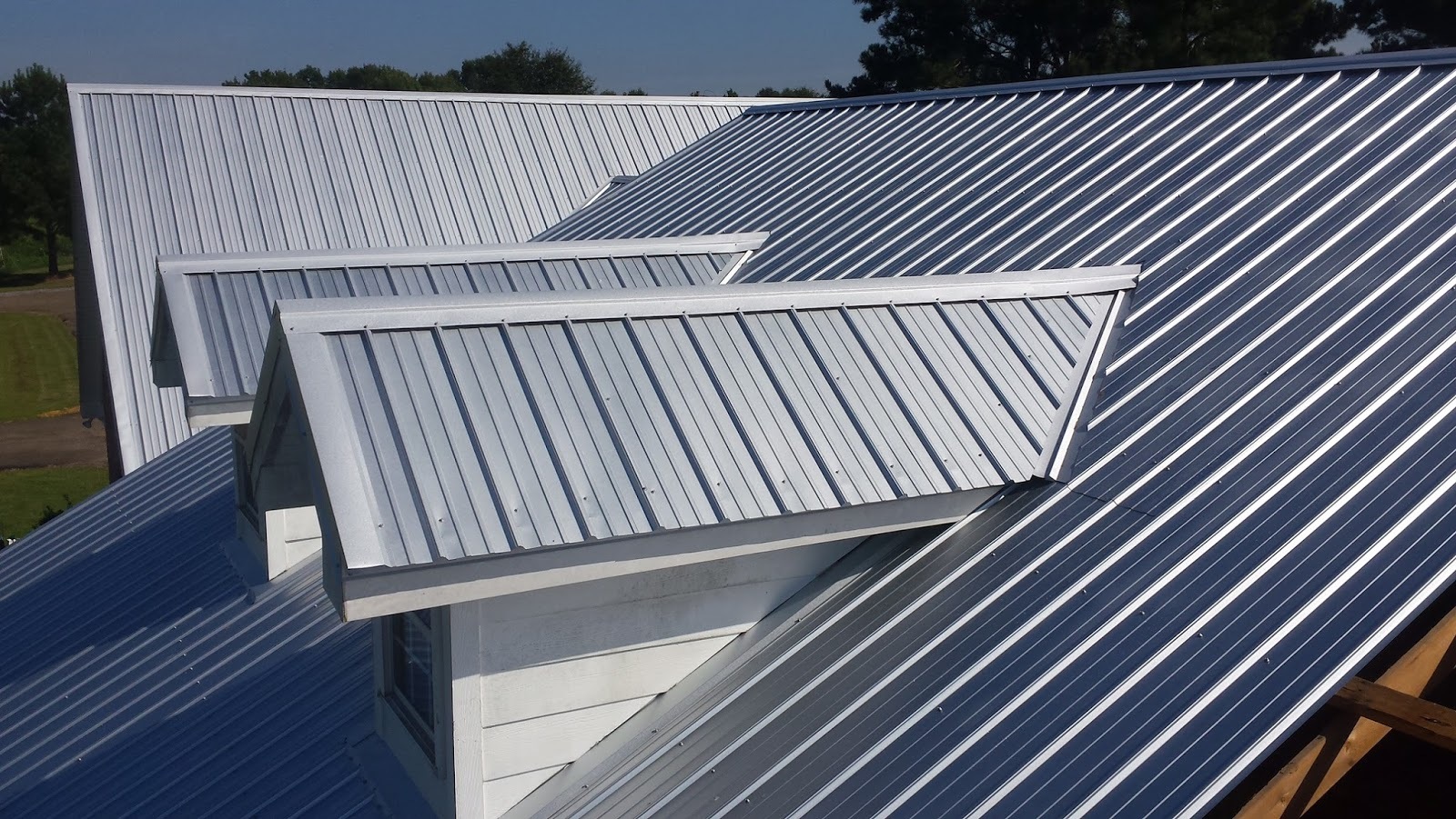 Metal Roofs with Chimneys