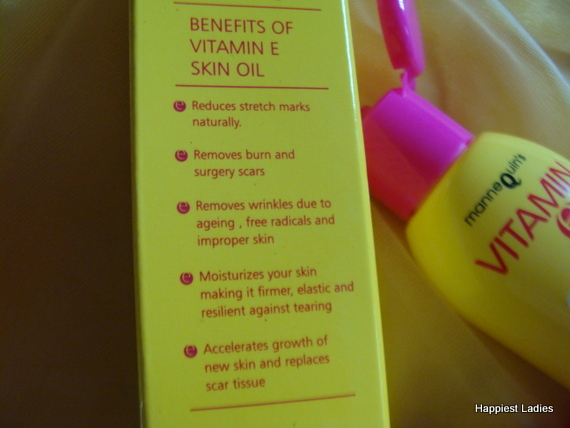 Mannequin's Vitamin E Skin Oil Review - Happiest Ladies
