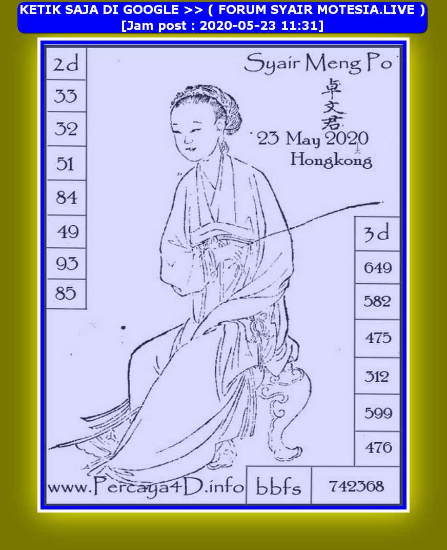 Kode syair Hongkong Sabtu 23 Mei 2020 129