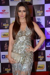 Actress Sana Khan Pictures in Designer Dress at Mirchi Music Awards 2016  0001