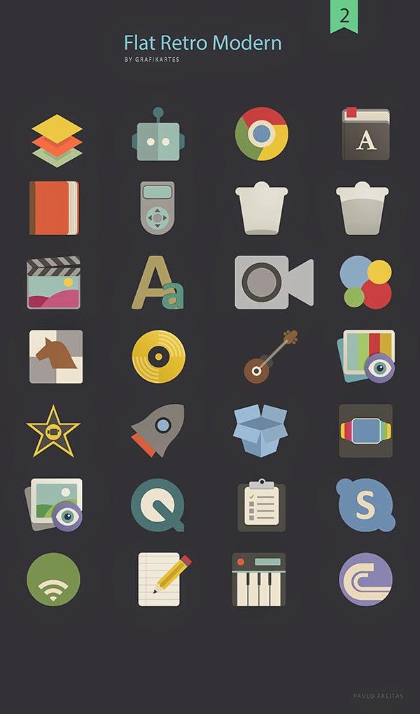 Flat Retro Modern Icons