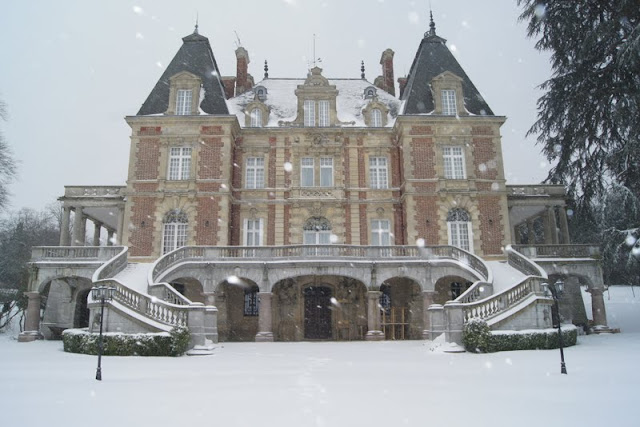 Snowy Paris Chateau