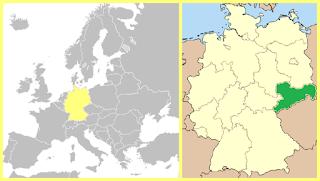 Mapa Sajonia