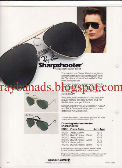 68eb0cb377215d Ray ban Ads and Catalogue  Ray ban Sharpshooter