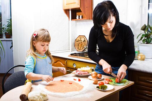 Çocukla Beraber Yemek Yapmak