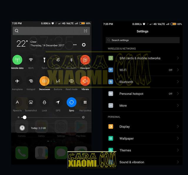 Download Tema IPHONE IOS Untuk Xiaomi MIUI Thema IOS Blue Dark and Mint Dark