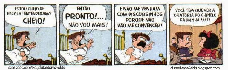 Melhores qaudrinhos da Mafalda