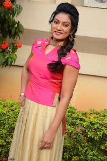 Ashmita in Pink Top At Om Namo Venkatesaya Press MeetAt Om Namo Venkatesaya Press Meet (60).JPG