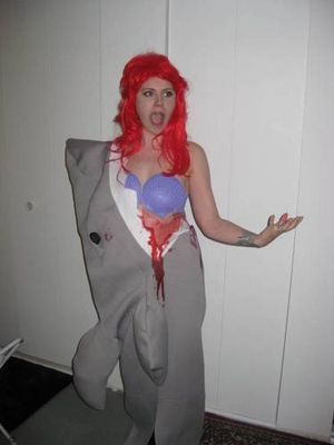 Eaten By Shark Costume