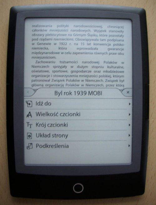 Cybook Odyssey HD Frontlight  - ustawienia w pliku epub
