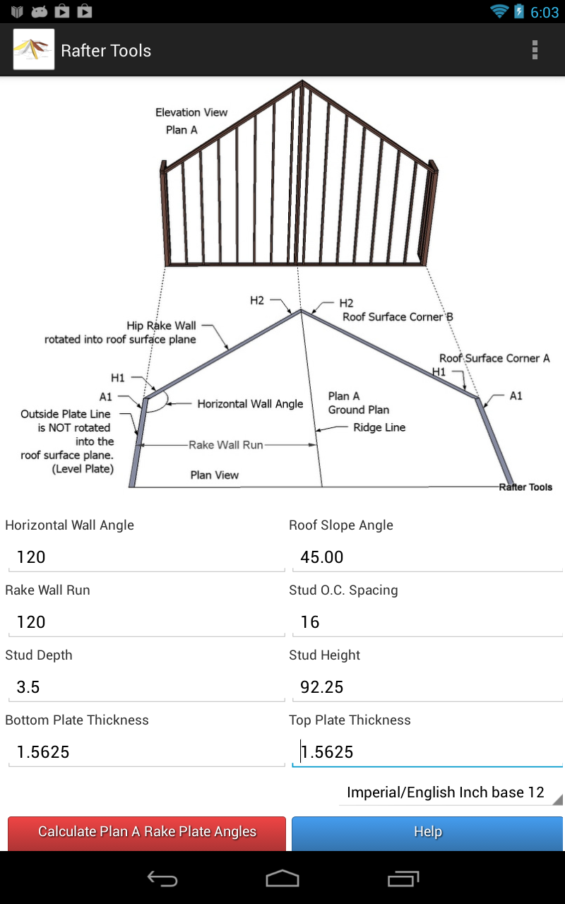 Roof Framing Geometry Hip Rake Walls Rotated Into The
