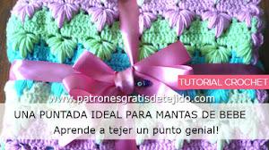 Puntada Crochet para Cobija de Bebé / Tutorial en español